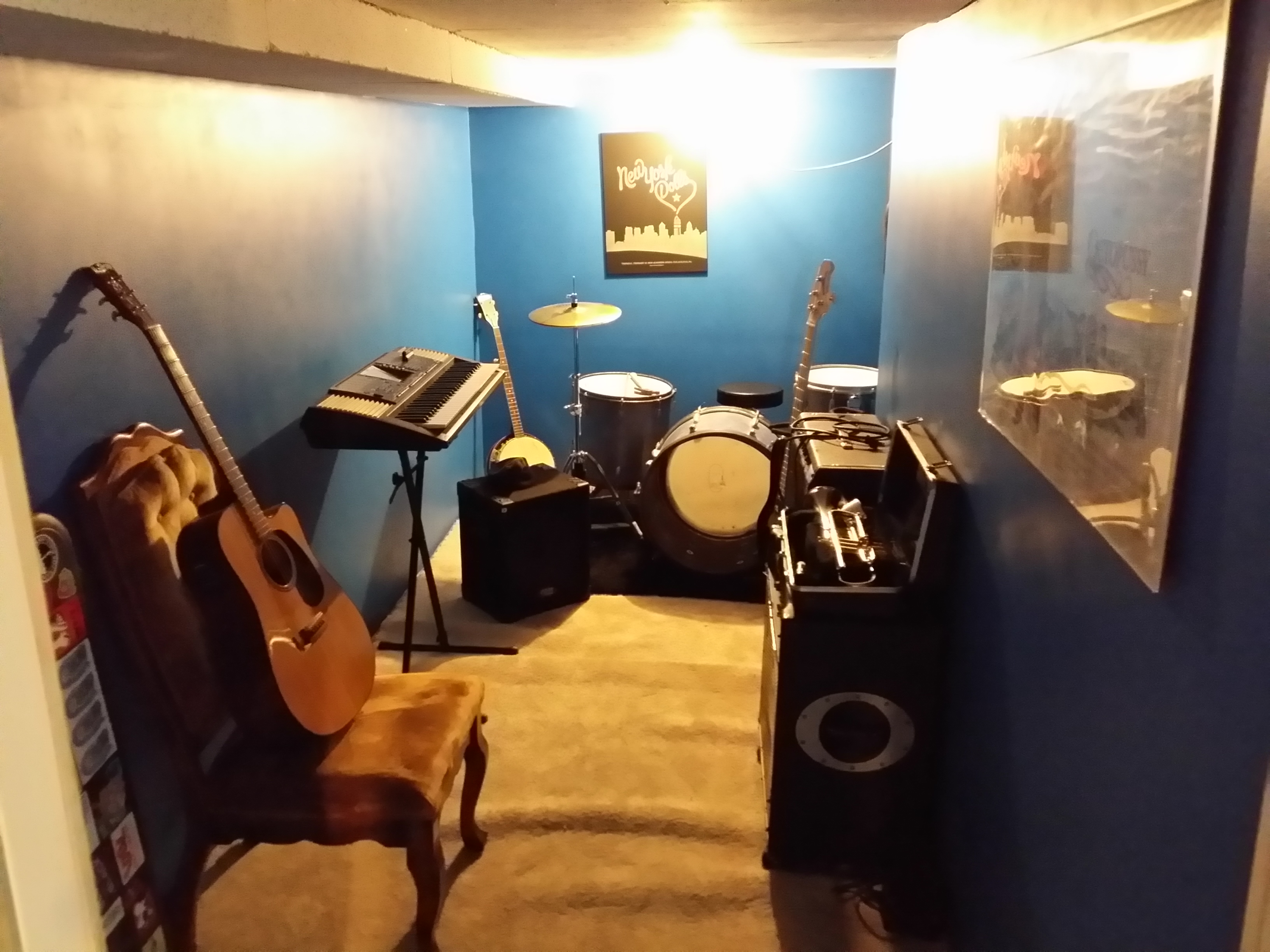 Groovy How To Build Your Own Soundproof Rehearsal Room When You Have No Largest Home Design Picture Inspirations Pitcheantrous