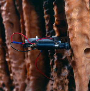 """The solenoid and hammer combo that """"plays"""" the stalactites."""